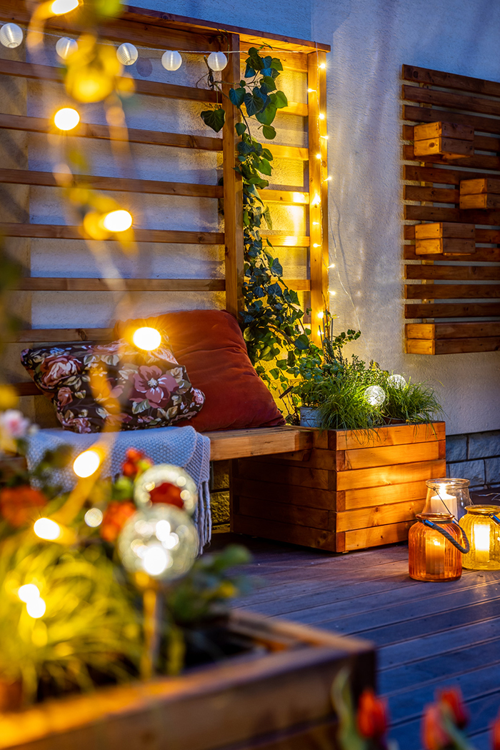 záhradná zástena z dreva