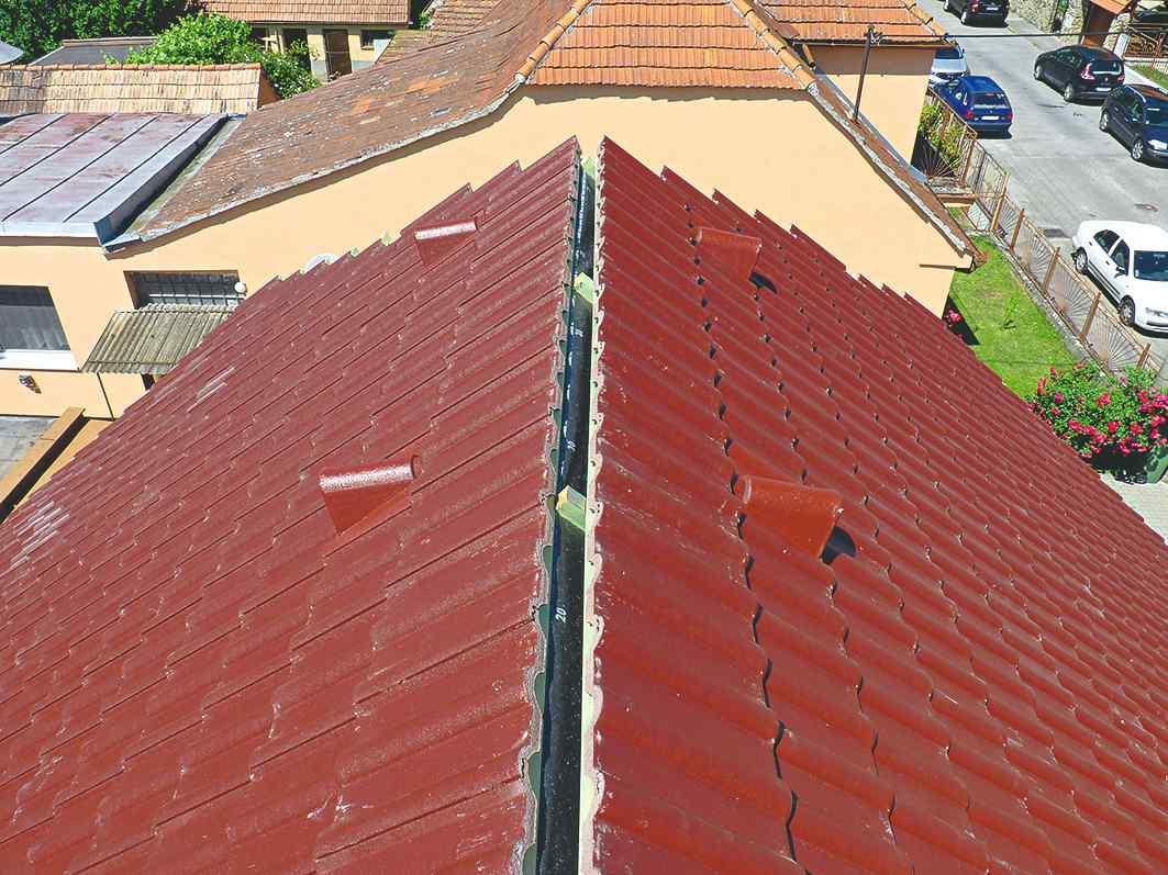 Položenie krytiny na strechu
