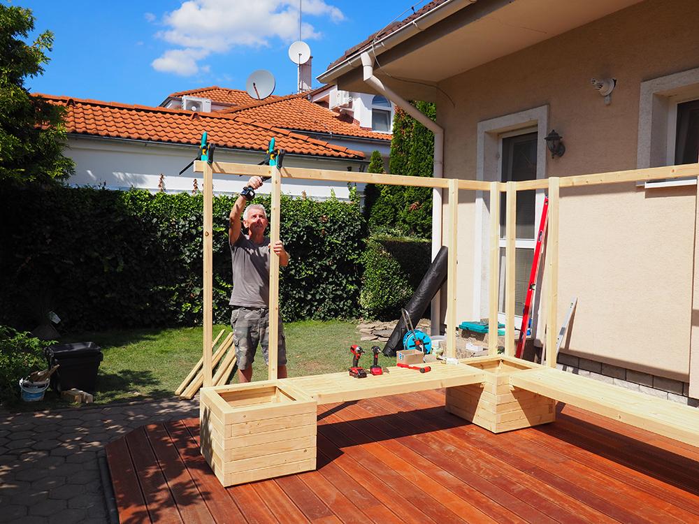 stavba záhradnej zásteny