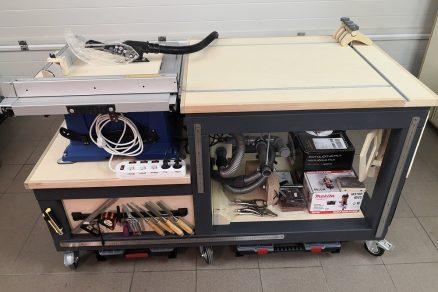 Pracovný stôl do garážovej dielne