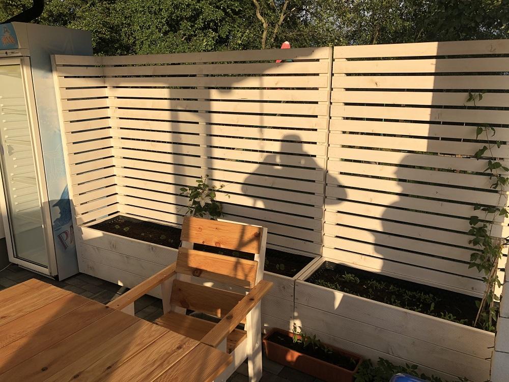 terasové sedenie z dreva