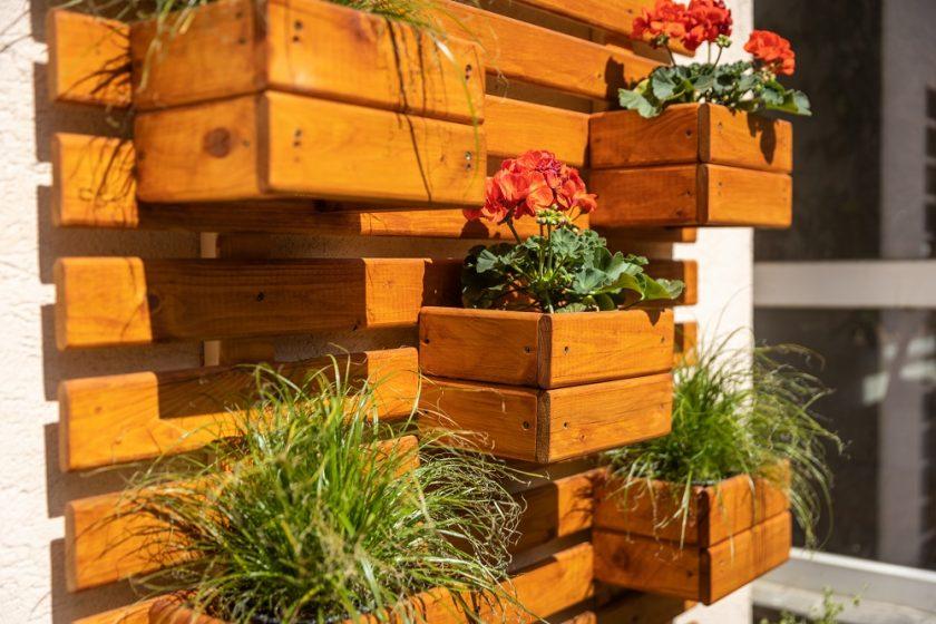 vertikálna záhradka z paliet