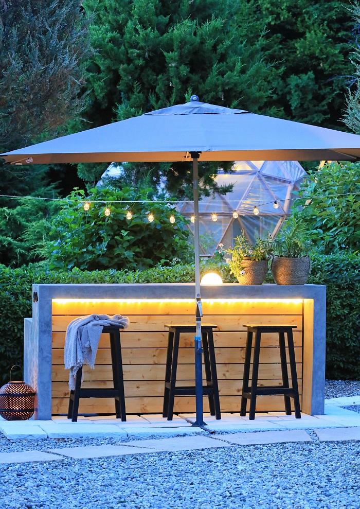Záhradný bar na grilovanie