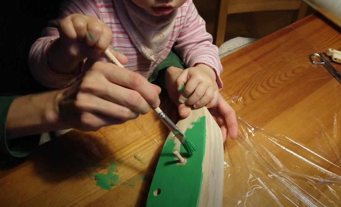 Výroba drevenej kobylky