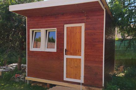 záhradný domček obložený tatranským profilom