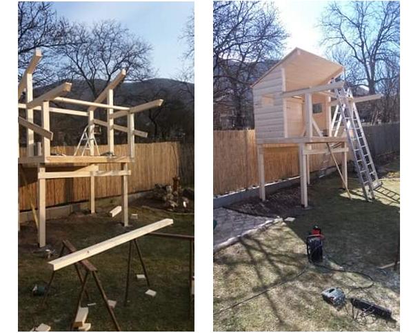 Výstavba detského domčeka