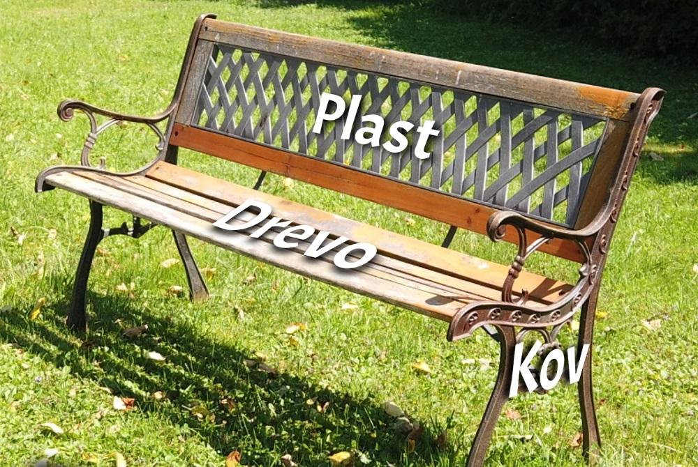 Materiály lavičky
