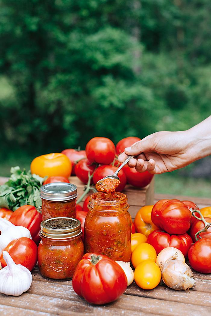 Pikantné čatní z rajčín