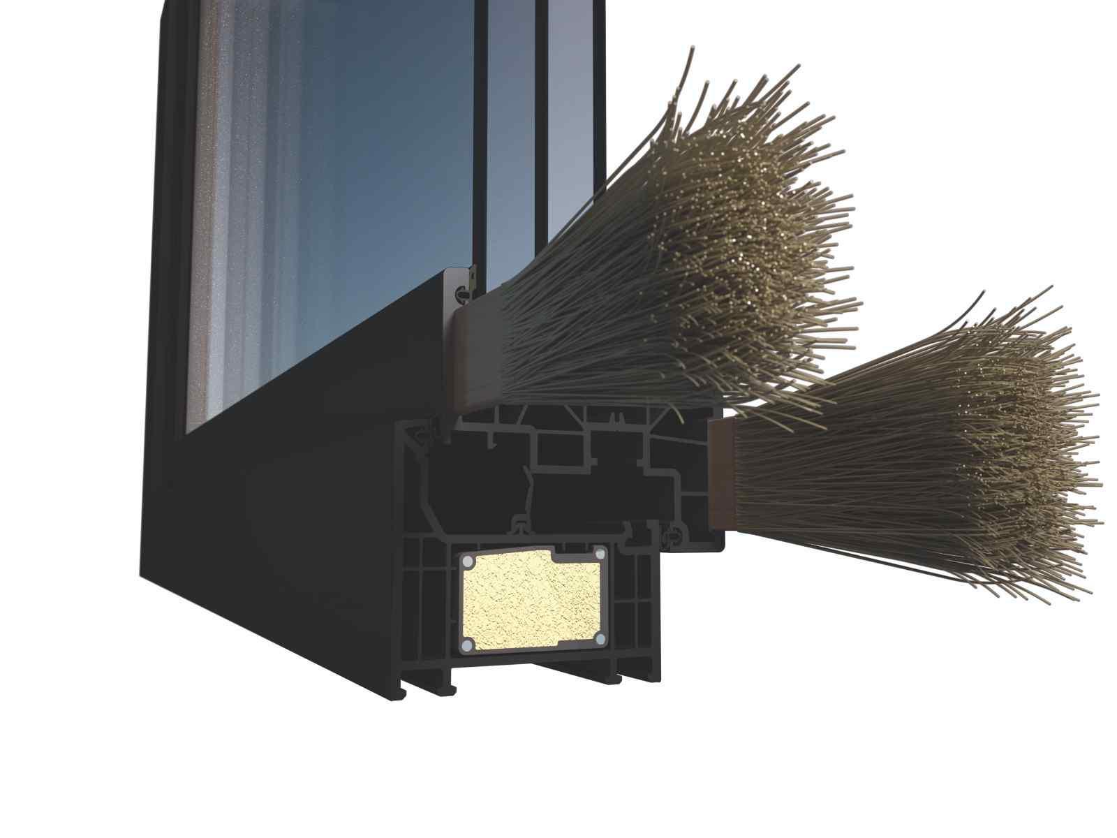 Sklenné vlákna v okennej výstuži