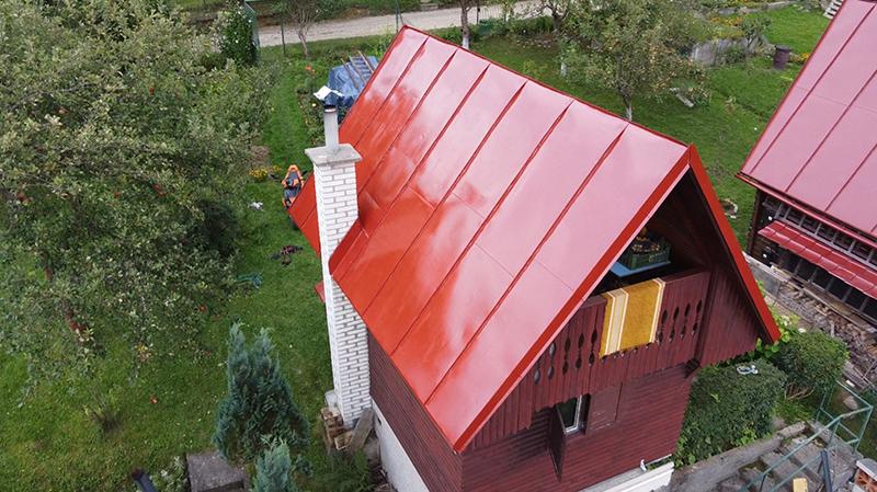 Záhradná chatka po rekonštrukcii strechy