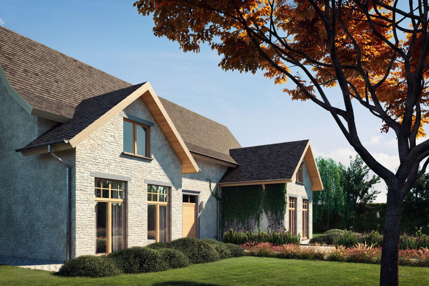 Moderný rodinný dom s francúzkymi oknami