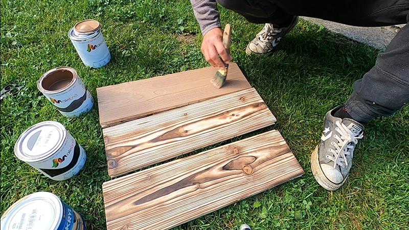 Natieranie opaľovaného dreva