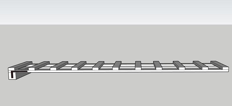 Špeciálny rebrík na natieranie šikmej strechy
