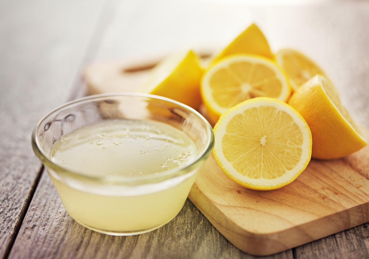Čerstvá šťava z citrónov