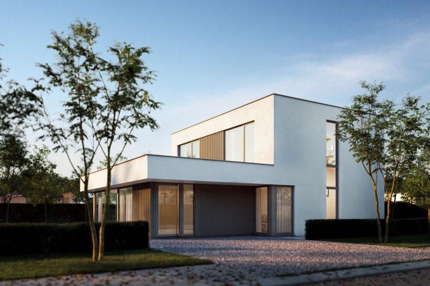 Moderný rodinný dom s veľkým presklením