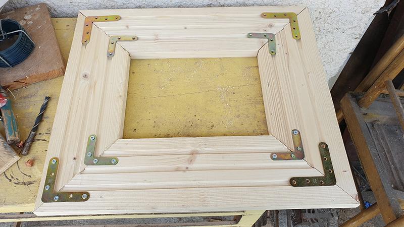 Výroba dreveného obrazu z podlahovej dosky