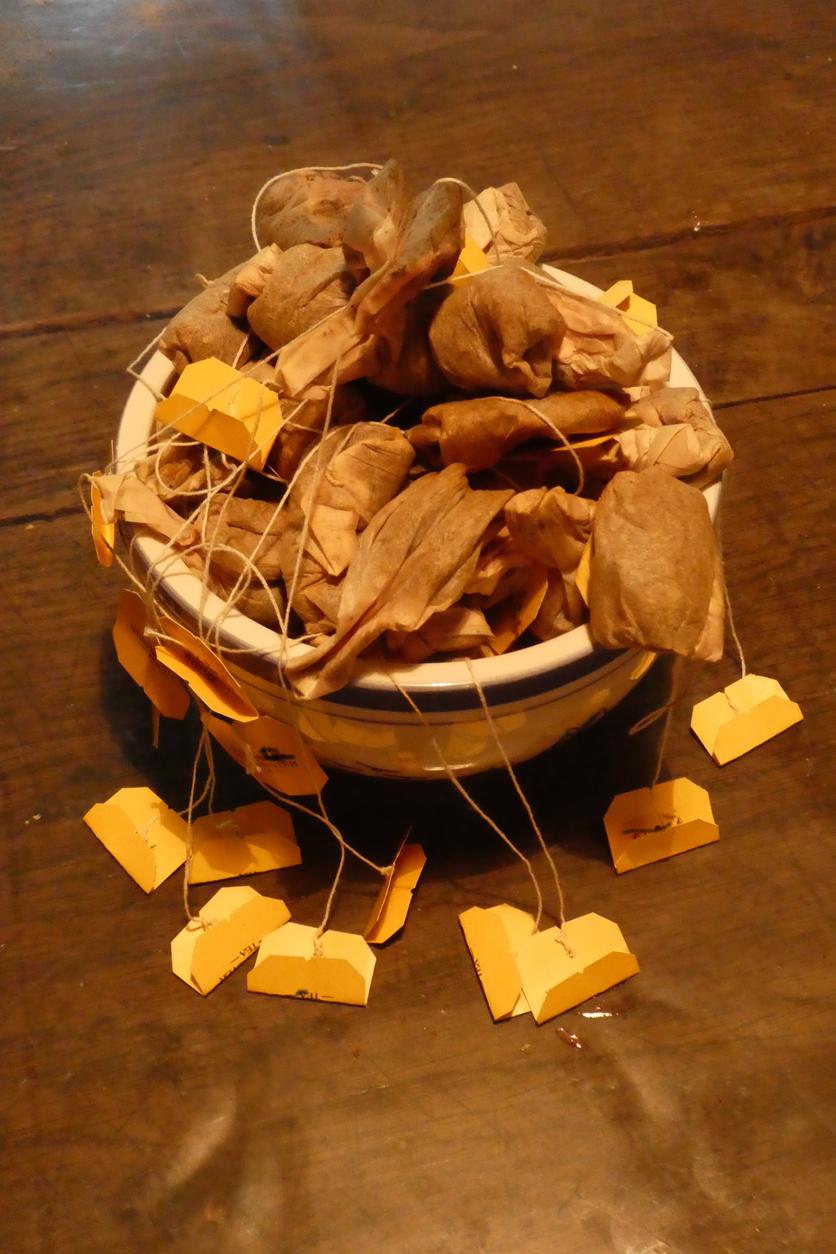 použité čajové vrecúška