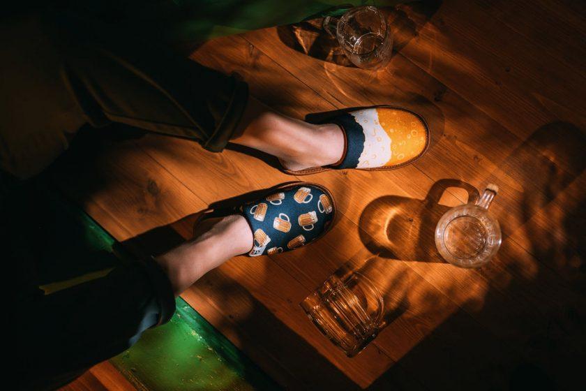 Papuče so vzorom piva