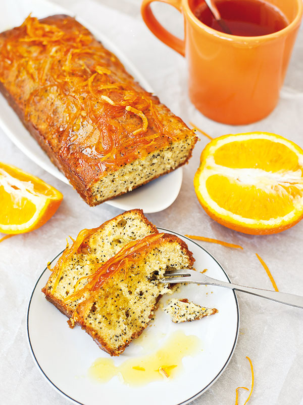 makový a pomarančový koláč