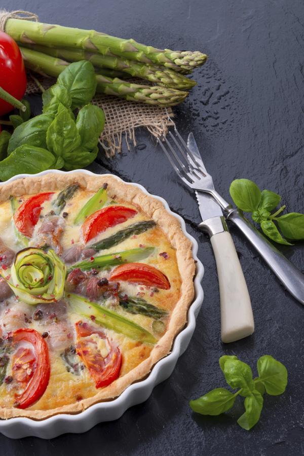 Nadýchaný zeleninový quiche