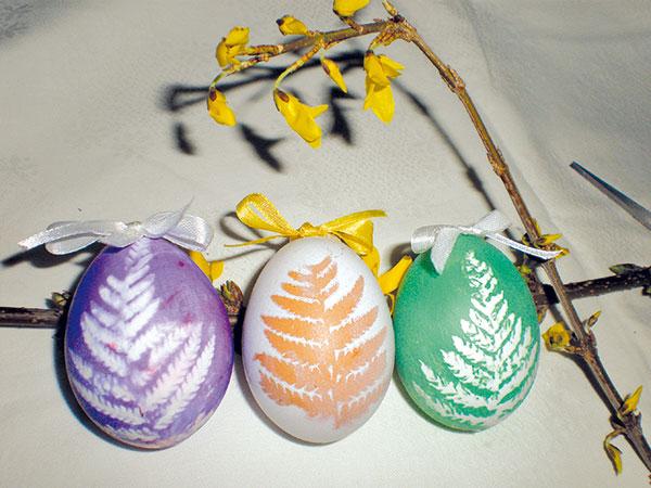 vajíčka farebné
