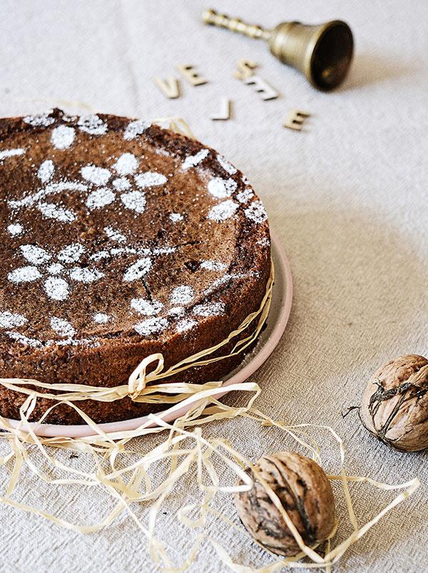 vianočná čokoládová torta bez múky