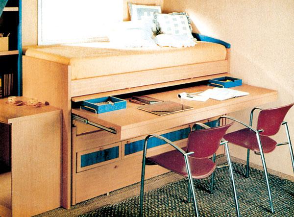 Zasúvacie postele i pracovné stoly – riešenie pre dvoch.