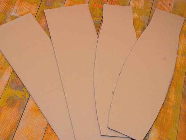 86f995b65ef Odlamovacím nožom narežeme prvé dve vrstvy kartónu a nožnicami vystrihneme  bočnice a čelá. V oblúkoch bránime krčeniu. foto: Milan Gigel