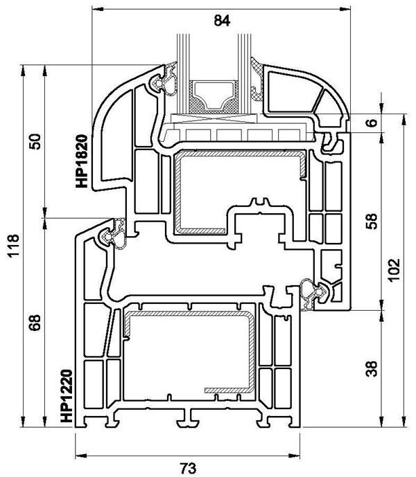 Technický výkres Brügmann Salamander (oblý)