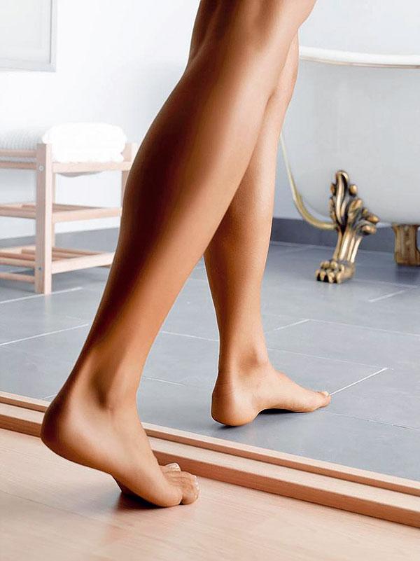 Podlahové vykurovanie pomocou vykurovacích rohoží navýši podlahu približne len o 15 mm, čo je výhodné najmä v bytoch.