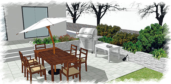kozub v záhrade