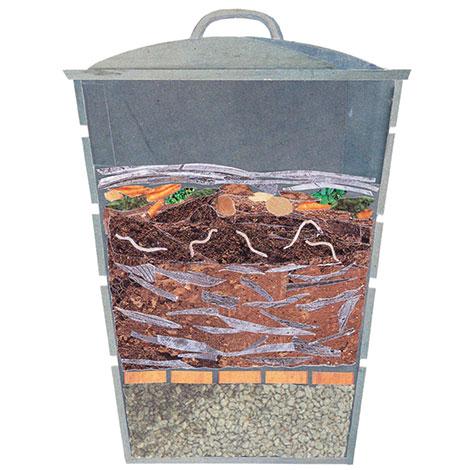 Nádoba na vermikompost musí byť nepriehľadná sotvormi na bočných stranách adrenážnou vrstvou na dne.