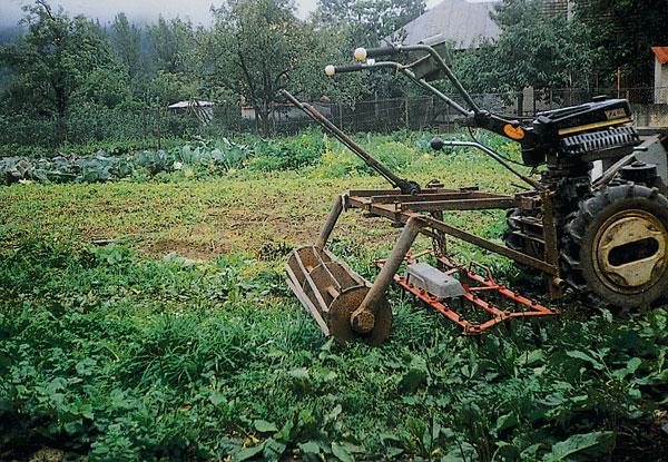 brany za dvojkolesovy traktor