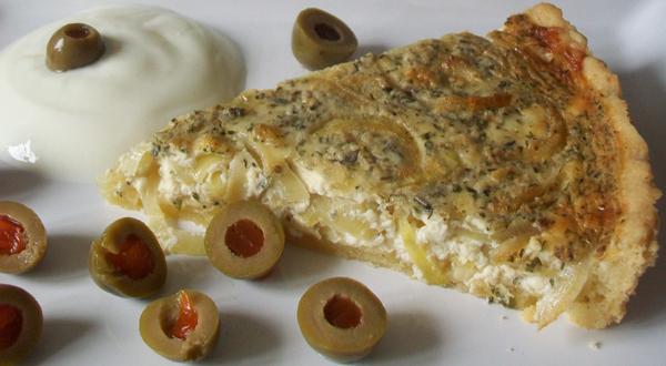 Cibuľovo-syrový koláč