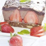 Čokoládový dezert s jahodami a nutelou