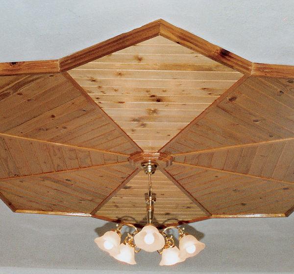 dreveny obklad stropna hviezda