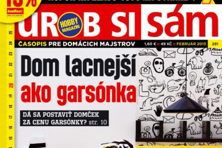 Druhé číslo hobby magazínu Urob si sám roku 2013 v predaji
