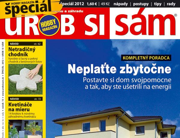 fbba238ad Hobby magazín Urob si sám špeciál 2012 už v predaji | Urob si sám
