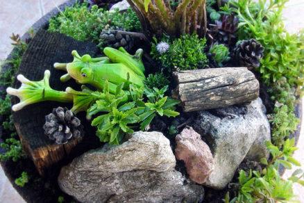 Vytvárame mini okrasnú záhradku