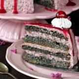 Maková torta s višňami (bez múky)