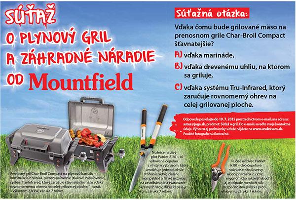 Súťaž o plynový gril a záhradné náradie od Mountfieldu - Výsledky