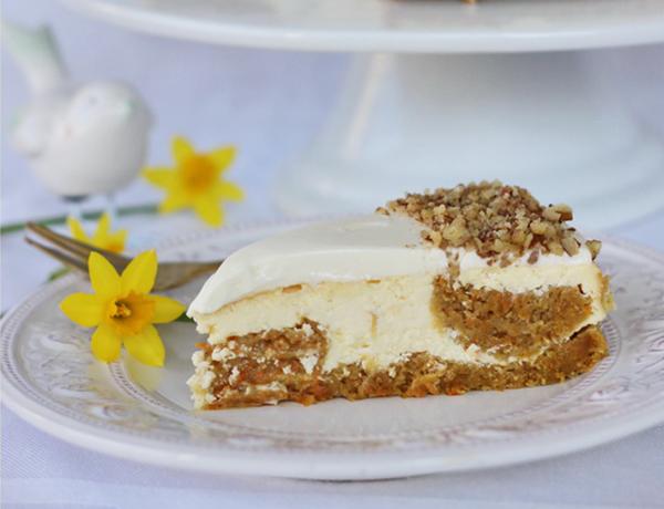 Mrkvový cheesecake ako vynikajúci kompromis pre nerozhodných maškrtníkov