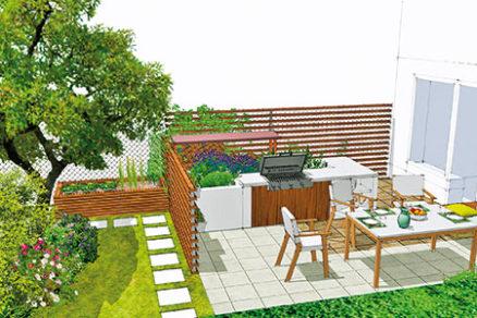Malá záhrada vradovej zástavbe