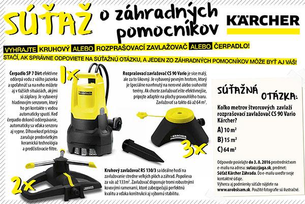 Výsledky súťaže o záhradných pomocníkov Kärcher