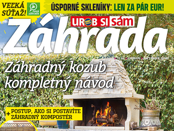 V predaji nové číslo časopisu Záhrada 08/2016