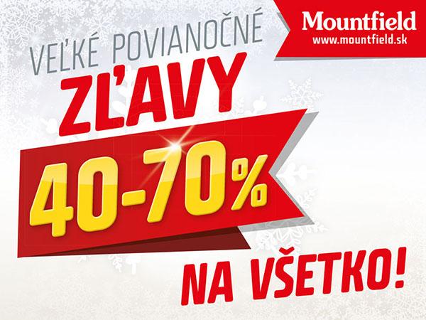 Mountfield hlási povianočné zľavy 40 až 70 % !!!
