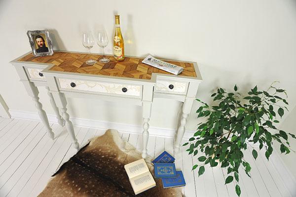 Šikovný konzolový stolík, ktorý vyrobíte za víkend