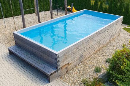Ako som si v záhrade postavil drevený bazén