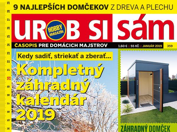 Novoročný Urob si sám v predaji!!! Postrekový a lunárny kalendár na rok 2019!