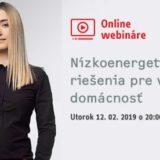 Online od 20:00! Naučte sa, ako ušetriť na energiách: Registrácia na webinár je zadarmo!